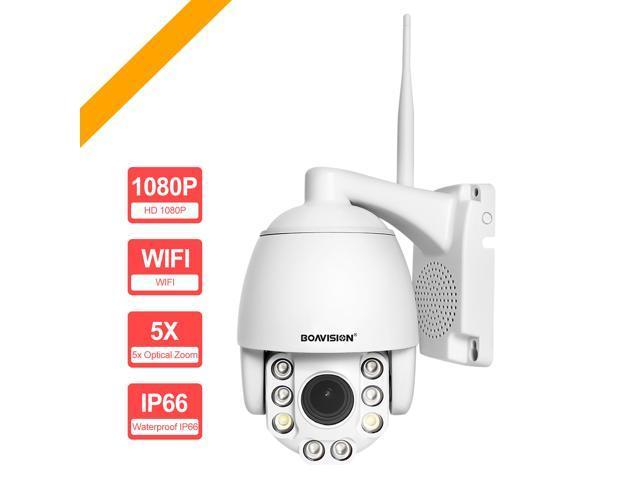 BOAVISION Wifi PTZ IP Camera 1080P 2MP Super HD 5X Zoom Two