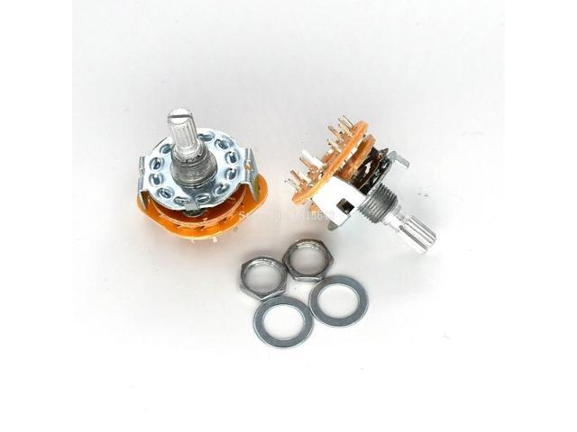 DP-iot 2PCS/LOT RS25 3P4T Potentiometer With Switch Shaft Panel Mount on mobile rotary switch, 4 position selector switch, 4 pole switch diagram, 4 position rotary limit switch, 2 pole light switch, two pole three-way rotary switch, 4 position rotary key switch, 6 pos rotary cam switch, four pole switch, leviton rotary switch, 4 pole slide switch,
