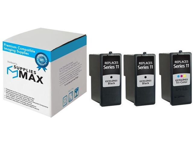 C891T/_2PK//C894T/_1PKMP Series 1 SuppliesMAX Compatible Replacement for Dell A720//A920 Inkjet Combo Pack 2-Black//1-Color