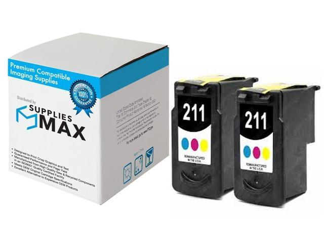SuppliesMAX Compatible Replacement for Canon PIXMA iP-2700//MP-230//250//280//490//MX-320//350//420 Color Standard Yield Inkjet 2//PK-244 Page Yield 2972B001/_2PK CL-211