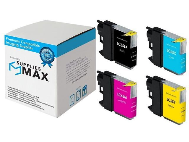 SuppliesMAX Compatible Replacement for Brother MFC-5890//5895//6490//6890C Inkjet Combo Pack BK//C//M//Y LC-1100/_4PK