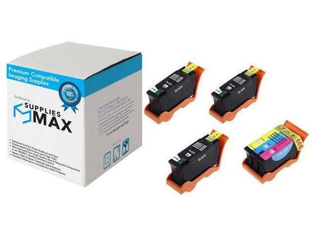 SuppliesMAX Compatible Replacement for Dell P513//P713//V313//V515//V715W Inkjet Combo Pack 3-Black//2-Color Series 21 X739N/_3PK//X740N/_2PKMP