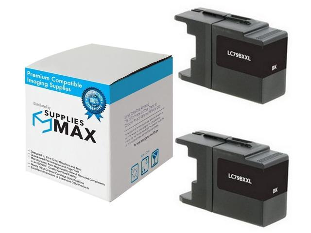 LC-79Y/_2PK 2//PK-1200 Page Yield SuppliesMAX Compatible Replacement for Brother MFC-J5910//J6510//J6710//J6910DW Yellow Inkjet