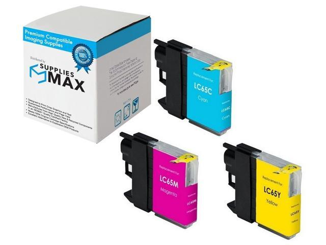 C//M//Y-750 Page Yield LC-65HYRBWBP SuppliesMAX Compatible Replacement for Brother MFC-5890//5895//6490//6890C Inkjet Combo Pack