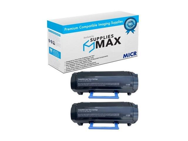 593-11172/_2PK SuppliesMAX Compatible Replacement for Dell B3460DN High Yield Toner Cartridge 2//PK-20000 Page Yield