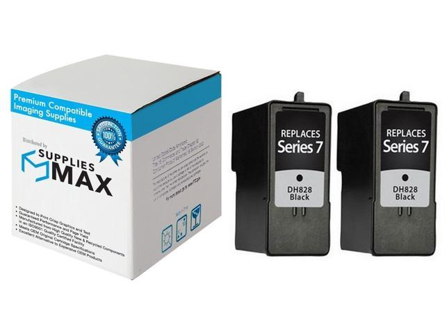 Series 7 SuppliesMAX Compatible Replacement for Dell 966//968//968W Black Inkjet GR274/_2PK 2//PK