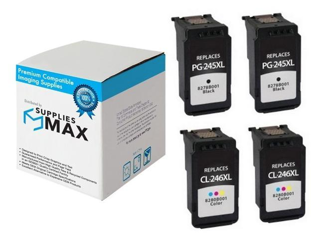 2-Black//1-Color SuppliesMAX Compatible Replacement for Canon PIXMA iP-2820//MG-2420//2550//3050//MX-490//495//TR-4520//4551 High Yield Inkjet Combo Pack PG-245XL//CL-246XL 8279B001/_2PK//8281B001/_1PKMP