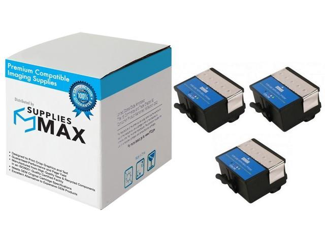 Series 20 SuppliesMAX Compatible Replacement for Dell P703W Color Inkjet 3//PK DW906/_3PK