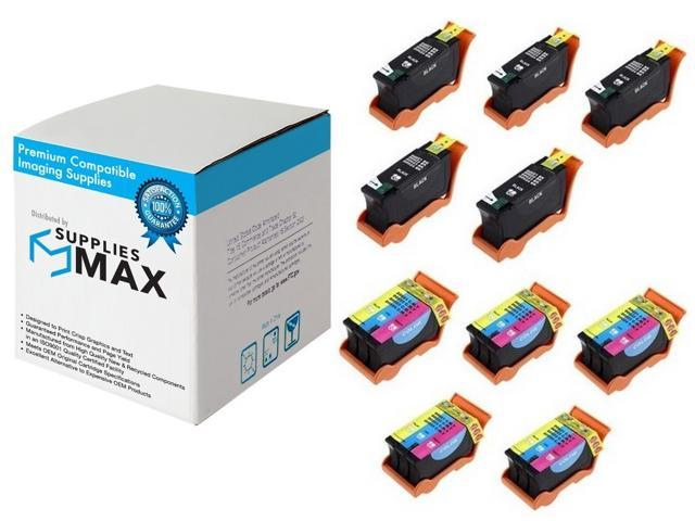 5//PK SuppliesMAX Compatible Replacement for Dell P513//P713//V313//V515//V715W Black High Yield Inkjet Series 21 330-5889/_5PK
