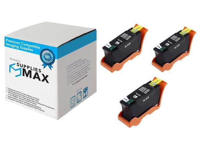 Series 22 3BP513W 3//PK SuppliesMAX Compatible Replacement for Dell P513//V313//V313W Black High Yield Inkjet