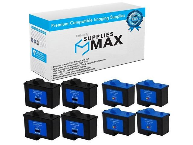 4//PK SuppliesMAX Compatible Replacement for Dell 948 AIO//V505//V505W Black Inkjet Series 11 330-2090/_4PK