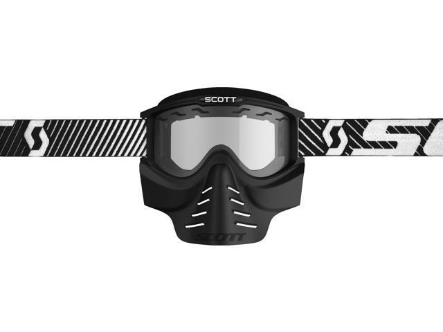 Scott 83X Safari Facemask Goggles Black w//Clear Lens