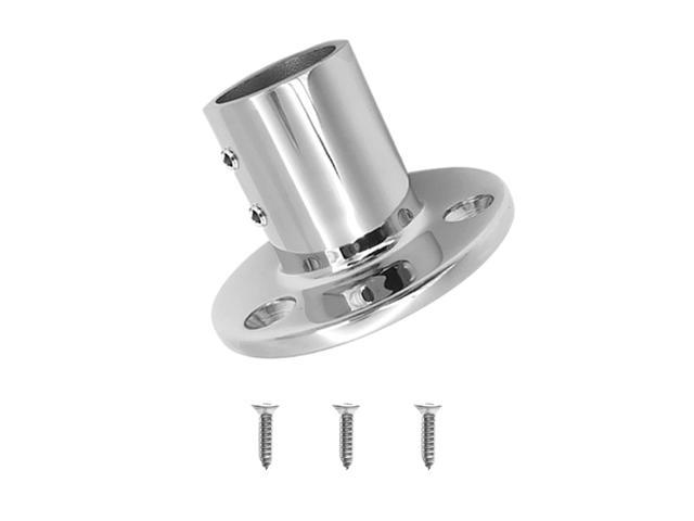 316 Stainless Steel Stanchion 90° Boat Hand Rail Fitting 38mm Right Side