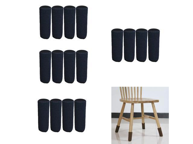 Awe Inspiring 16 Pieces 4X11Cm Furniture Feet Caps Covers Knitted Chair Leg Socks Black Pdpeps Interior Chair Design Pdpepsorg