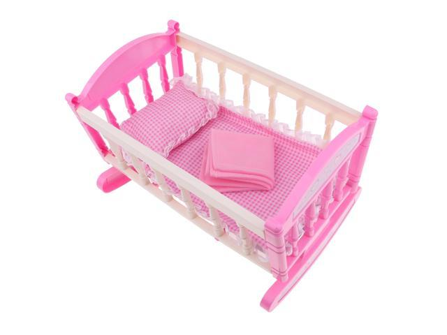 Baby Doll Bed Reborn Cradle Realistic Baby Doll Crib Doll Furniture Accs Newegg Com