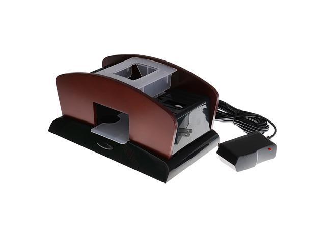 2 Deck Wood Card Shuffler Double Use Automatic Playing Shuffling