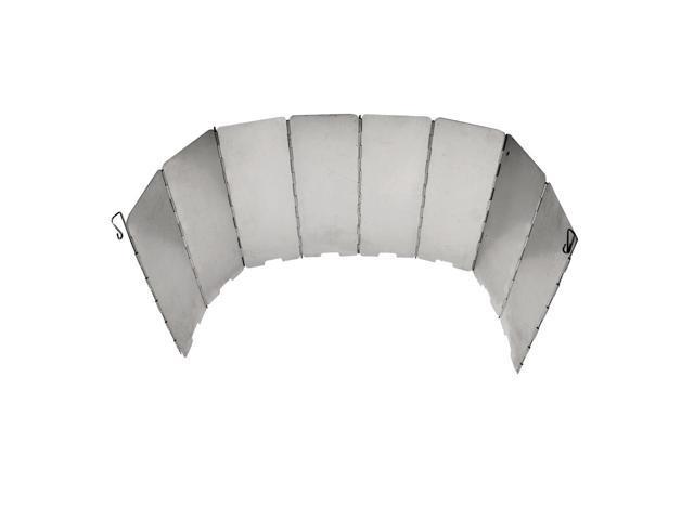 10 Pcs Panel Portable Burner Wind Shield Screens Outdoor BBQ Camping Gas Stove