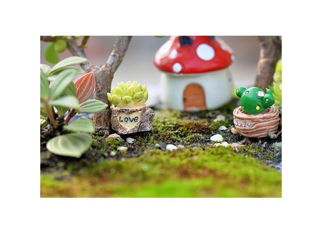 4 Pieces Micro Landscape Mini Resin Bonsai Garden Diy Decor Love Statue Newegg Com