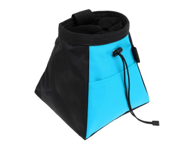 Chalk Bag Bucket Holder Pouch /& Rear Zipper and Belt Loop for Rock Climbing