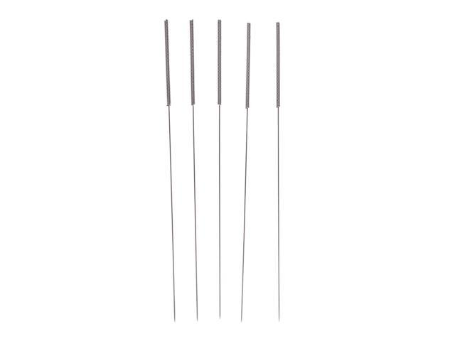 Pack of 5 Homyl Stainless Steel Bendable Cleaning Drill Needle for 3D Printer Nozzle 0.4mm