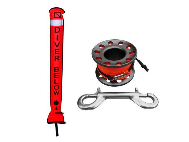 High Visibility Scuba Diver Signal Tube SMB Surface Marker Buoy /& Inflator