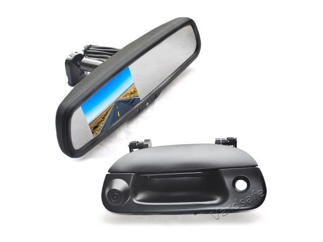 1997-2007 Vardsafe VS370R Tailgate Reverse Backup Camera /& Replacement Mirror Monitor for Ford F150 F250 F350 F450 F550