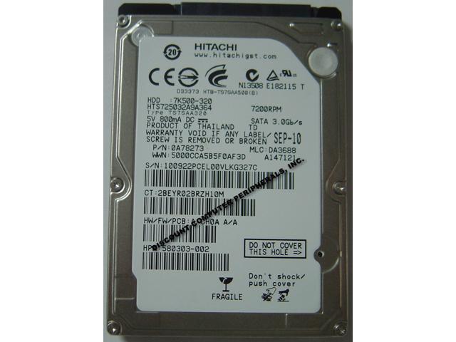 HTS725025A9A364 HITACHI HTS725025A9A364 HDD 250GB SATA 9.5MM 7200RPM 16MB
