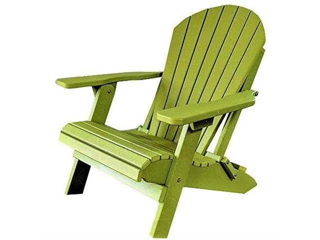 Sensational Classic King Size Folding Adirondack Chair Kiwi Green Creativecarmelina Interior Chair Design Creativecarmelinacom