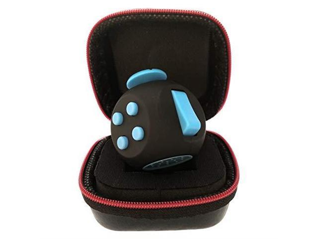 PILPOC theFube Fidget Cube Premium Quality Fidget Cube Ball with Exclusive Protective Case Black /& Pink Stress Relief Toy