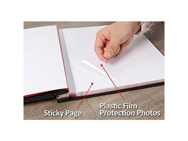 Self Adhesive Photo Album 40 Pages Magnetic Scrapbook Album with A Metallic Pen