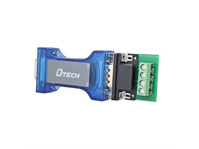 DTECH Industrial Grade Port-Powered RS232 to RS485 Converter Adapter with TX//RX LED Lights for Industrial Long Haul Serial Communication