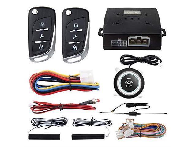 Pke Passive Keyless Entry Car Alarm System Push Start Button Remote Start Starter Dc12v Ec003nv1 Newegg Com