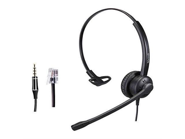 Headset With Rj9 Jack And Noise Cancelling Microphone For Call Centers Offices With Two Connectors Rj9 And 35mm Compatible With Avaya Nortel Aastra Toshiba Jabra Newegg Com