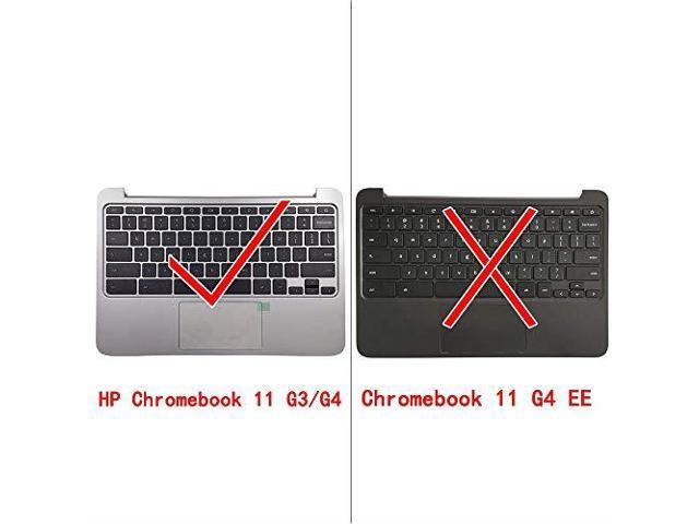 NOT for HP Chromebook 11 G4 EE CAPARTS New Replacement Keyboard for HP Chromebook 11 G3 G4 Palmrest Keyboard Assembly with Touchpad P//N 788639-001 Silver
