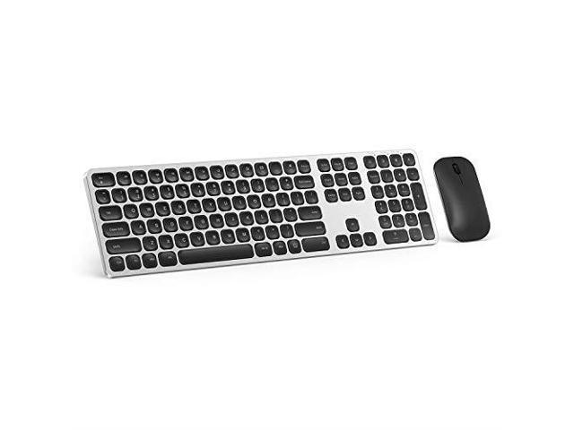 Ultra Slim Full Size Ergonomic Notebook Color : White PC Wireless Keyboard /& MouseSet Combo for Computer Laptop Desktop