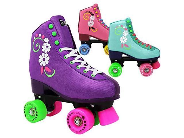 Ugogrl Roller Skates For Girls Kids Quad Roller Skate Indoor Outdoor Derby Childrens Skate Rollerskates Made For Kids Great Youth Skate For Beginners Newegg Com