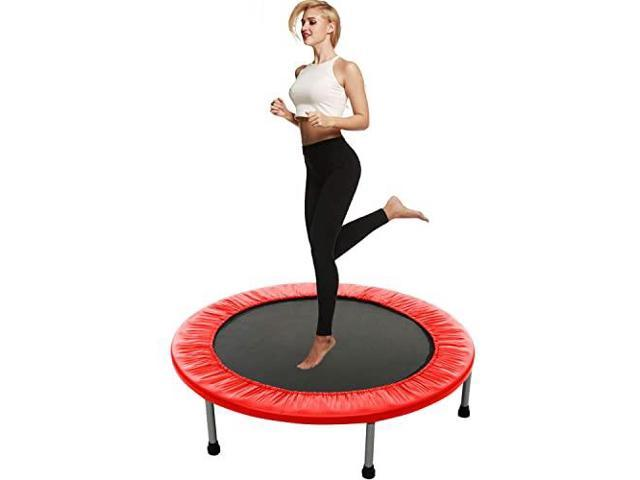 Exercise Fitness Trampoline for Adults and Kids with Safety Pad Mini Rebounder Trampoline Max Load 220lbs