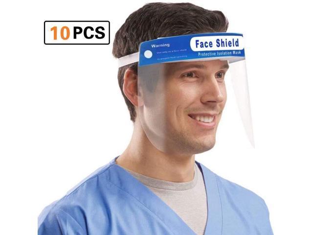 10 pcs Safety Face Shield Reusable Anti-Splash Reusable Protection Cover