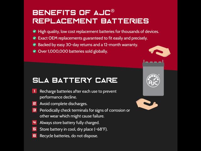 This is an AJC Brand Replacement APC AP AP AP330XT 12V 9Ah UPS Battery