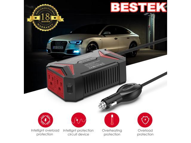 BESTEK 200W Car Power Inverter DC 12V to AC 110V Converter with 7.8A 4 USB Car