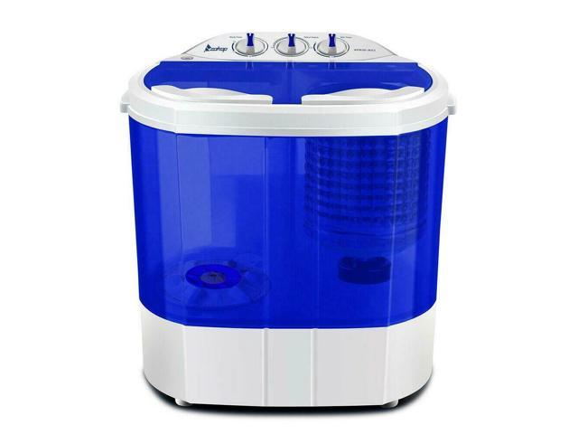 Mini 10.4lbs Washing Machine Dryer Combo Portable Laundry Washer Dryer  Apartment