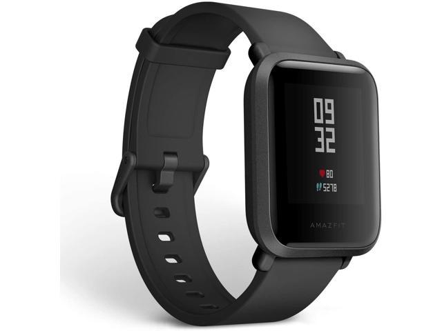 Amazfit Bip Fitness Smartwatch, All-Day Heart Rate and Activity Tracking, Smart Notifications, Built-In GPS, 30-Day Battery Life, Bluetooth, Onyx Black
