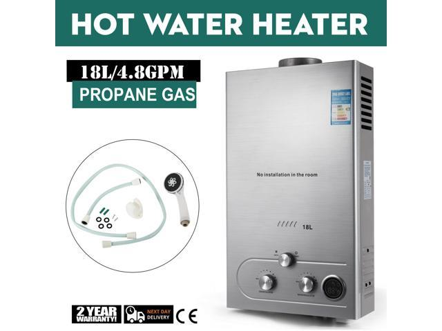 18L Natural Gas Tankless Hot Water Heater Instant On Demand Whole House 36KW