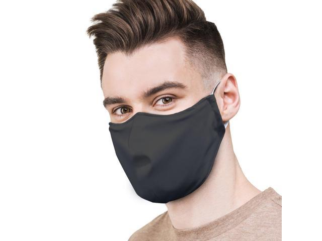 Face Mask Premium Reusable Cloth Face Mask | Black With 3 Stage Filter Adult