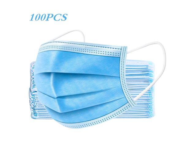 New 100Pcs Disposable Anti Dust Mask Protective Mask Anti Fog Dust-proof Non-woven Melt Blown Three-layer Mask