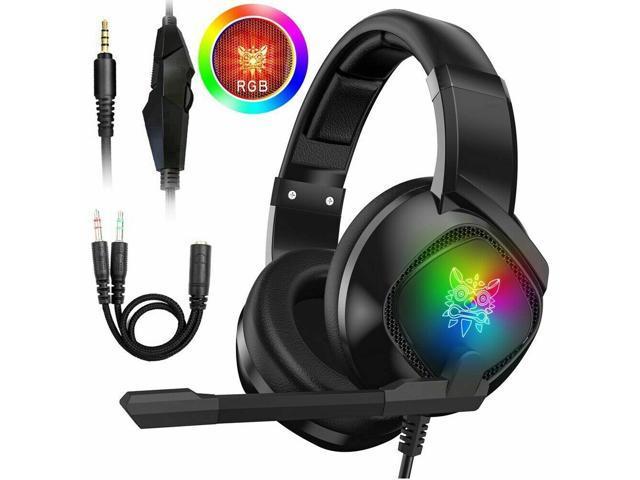 3.5mm Gaming Headset MIC LED Headphones