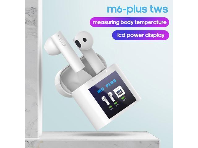 M6 Plus Tws Wireless Bluetooth Earphones Power Display In Ear Earbuds Mini Sports Headphones Forehead Gun Temperature Measurement Newegg Com
