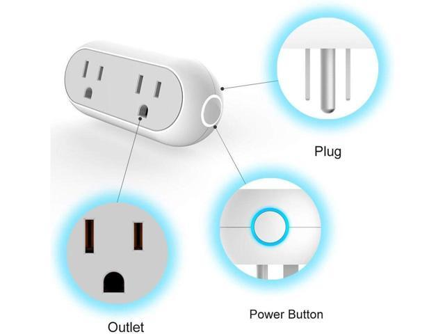 Avatar Controls Smart Capsule Outlet Wifi Plug  Dual 2 In