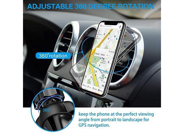 Air Vent Phone Holder for Socket Mount 360/° Rotation Vent Clip Silicone Car Mount for Collapsible Grip//GPS Navigation