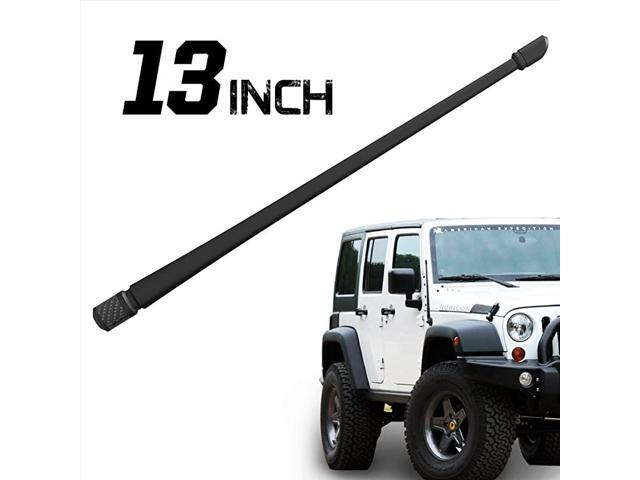 w//Red Bottom | 13 inches Flexible Rubber Antenna Replacement Rydonair Antenna Compatible with Jeep Wrangler JK JKU JL JLU Rubicon Sahara Designed for Optimized FM//AM Reception 2007-2020